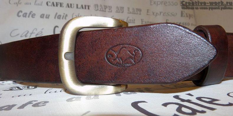 Мужской кожаный ремень ручной работы из буйвола