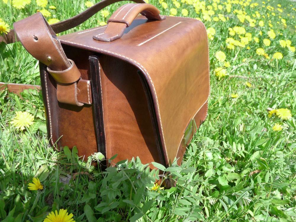 Кожаная сумка ручной работы — Вечность